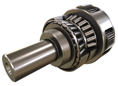 Single piece planet carrier with reinforced tapered roller bearings that offers unmatchable stiffness and axial and radial capacities.