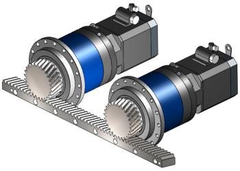 Servotak Zero-Backlash Rack-Pinion-Gearbox System